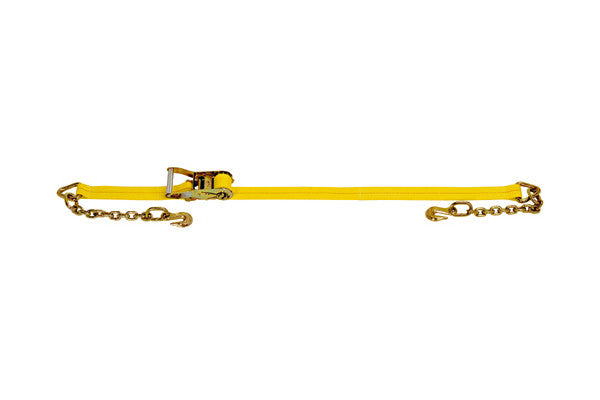 "2"" x 27' Ratchet Strap with Chain Extension - Made or Assembled in USA"