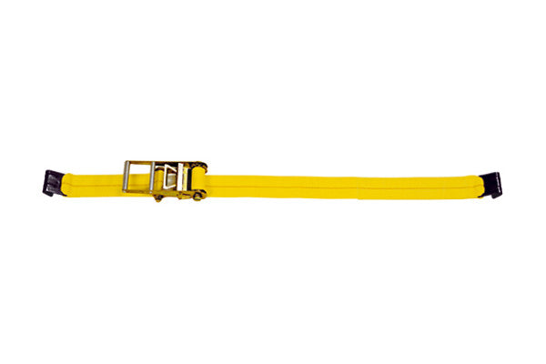 "4"" x 27' Ratchet Strap with Flat Hook Tie Down - Made or Assembled in USA"