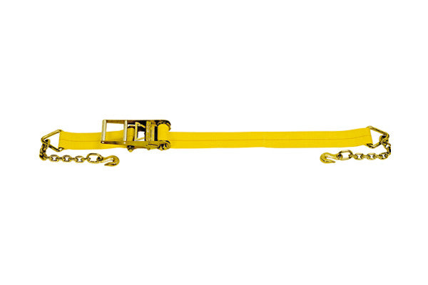 "4"" x 27' Ratchet Strap with Chain Extension"