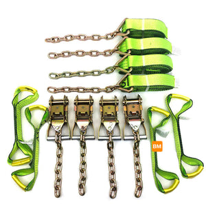 8-Point Tie Down Kit with Hi-Vis Green Straps.