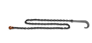 "3/8"" Grade 80 Alloy Safety Recovery Chain w/ 15"" Clevlok J-Hook & Cradle Grab Hook"