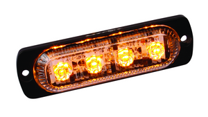 Amber LED Ultra Thin Low Profile Strobes with 19 Flash Patterns 4 Diodes