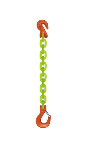 SSG Grade 100 Chain Sling w/Grab & Latching Sling Hook Hi-Viz USA