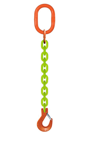 Grade 100 Alloy chain lifting sling made with CM hardware and high visibility US Made chain