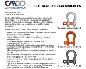 CM Super Strong Screw Pin Anchor Shackles product description