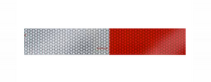 "2"" x 18"" Red/White Reflective Conspicuity Tape Strip - Made in USA.  18″ Tape Strip.  2"" Wide. DOT Approved"
