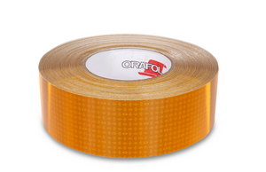 "2"" x 150' Roll - Yellow Reflective Conspicuity Tape - Made in USA."