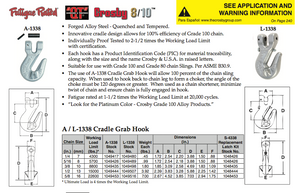 Crosby Grade 100 Clevis Cradle Grab Hook (USA)