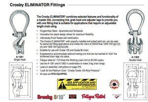 Crosby ELIMINATOR™ Grade 100 Specifications