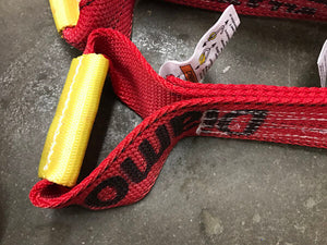 8-Point Tie Down Kit Snap Hooks Diamond Weave RED