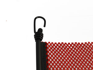 "24"" x 24'' EZ Hook Mesh Warning Flag Bungee"