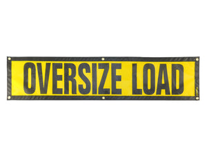 "14"" x 60″ Grommet Escort Oversize Load Sign"