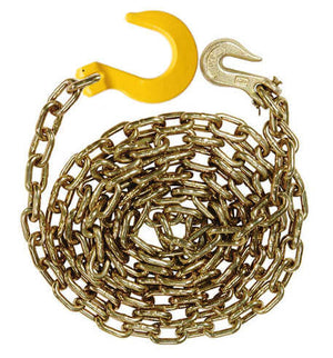 "3/8"" Grade 70 Transport Binder Chains with Grab Hook & GR80 Foundry Hook"