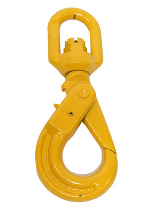 "3/8"" Grade 80 Swivel Self Locking Hook available at Baremotion"