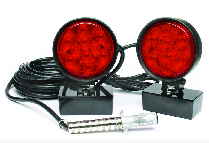 LED Heavy Duty Magnetic Tow Lights with Carrying Case