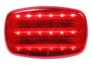 LED Battery Operated Magnetic Safety Flashers - RED