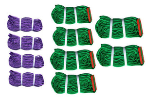 Polyester Round Sling Kit made with Purple and Green lifting slings.