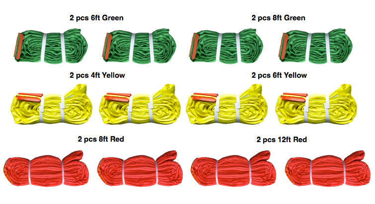 This medium duty kit includes 12 polyester round slings All-Grip®.  Domestic Made in USA.