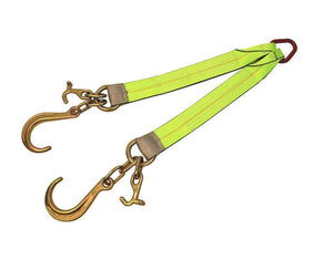 V-Bridle Strap w/ Short J Hooks Mini J & T Hooks High visibility green v-strap All-Grip®