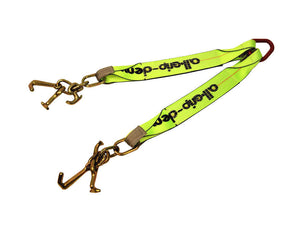 V-Bridle Strap with RTJ Cluster Hooks Hi-viz Green v-straps All-Grip®