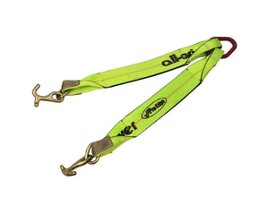 "24"" V-Bridle Strap with Mini J & T Combo Hooks - All-Grip Towing V-strap"