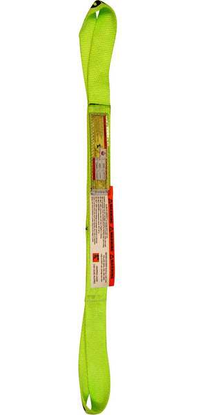Nylon Lifting Web Sling Hi-Visibility Nylon - Twisted Eye & Eye 2-Ply (USA) Type 4