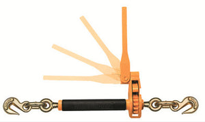 "3/8""-1/2"" Peerless QuikBinder™ Ratchet Loadbinder is used to tighten chains securely over a load."