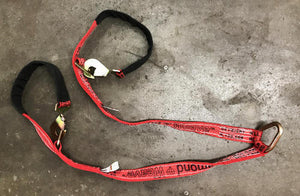 Axle V-Bridle Strap 4' RED Diamond Weave.  Towing V-bridle straps are lighter and easier to use than chains.