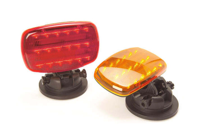LED Battery Operated Safety Flashers w/ Adjustable Magnetic Base