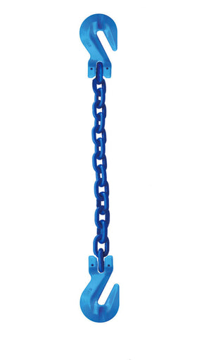 Single Leg Grade 100 Alloy Chain Slings with Cradle Grab Hooks each end.