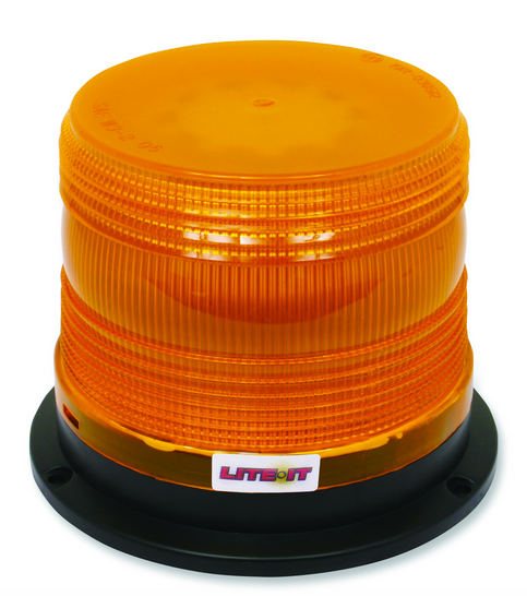 LITE-IT 60 LED Beacon, Quad Flash, Permanent Mount