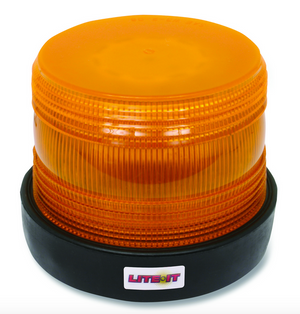120 LED Amber Beacon, Quad Flash, Permanent Mount