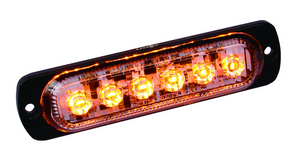 Amber LED Ultra Thin Low Profile Strobes with 19 Flash Patterns