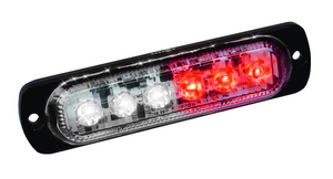 White Red LED Ultra Thin Low Profile Strobes with 19 Flash Patterns