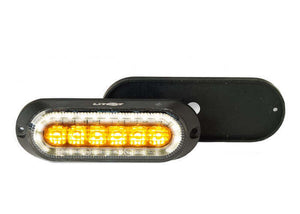 Amber LED Strobe with Built-In Flood Work Light