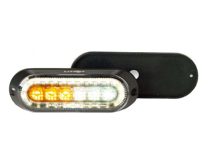 LED Strobe with Built-In Flood Work Light