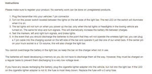 Lite-it Wireless 60″ LED Tow Light Bar Instructions
