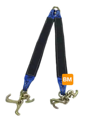 Reinforced V-Bridle towing strap with RTJ Cluster Hooks made with Diamond Weave Webbing - available in several colors!
