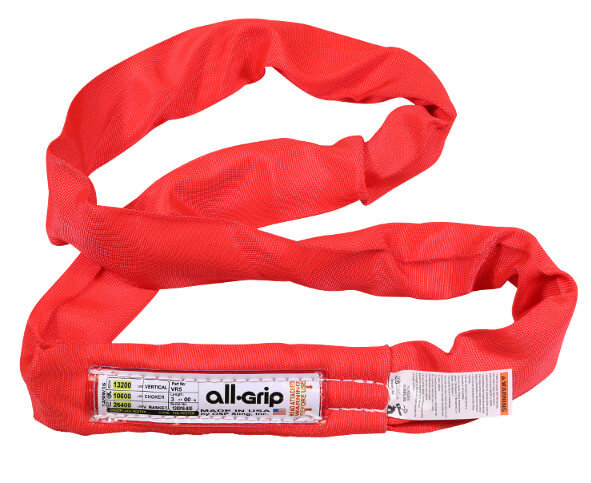 10ft All-Grip Red Polyester Endless Round Sling