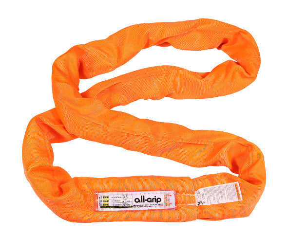 Orange Polyester Round Sling All-Grip 40,000 LBS WLL (USA)