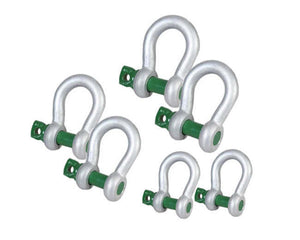 Van Beest Green Pin Shackle Kit comes with 6 drop forged screw pin anchor shackles.