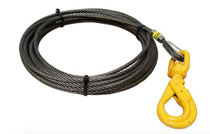 "7/16"" Steel Core Winch Cable with Swivel Self Locking Hook All-Grip®"