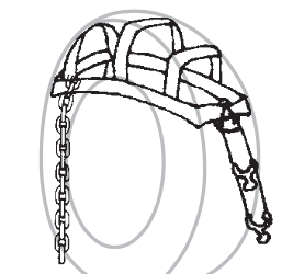 "2"" Basket Strap with T Hooks - Chevron - diagram"