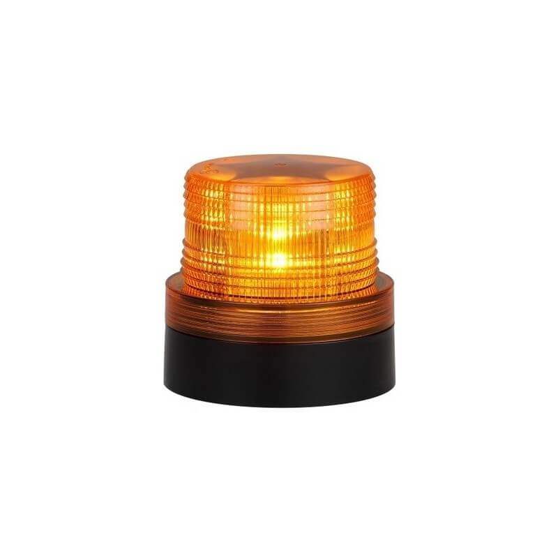 Amber LED Magnetic Battery Operated Flashing Rotating Beacon
