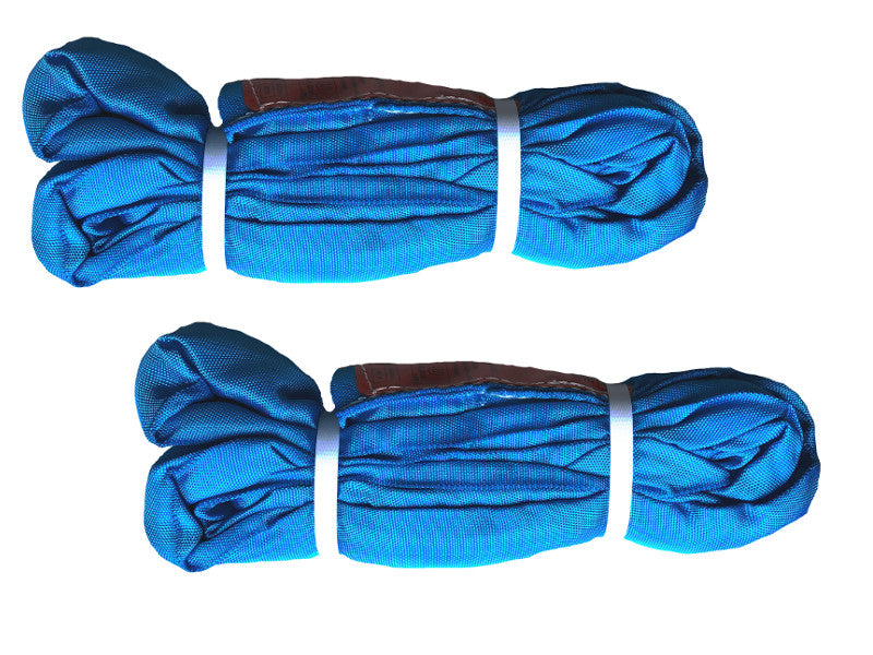 10ft Blue Endless Round Slings - Set of TWO - Sold in Pair - Import