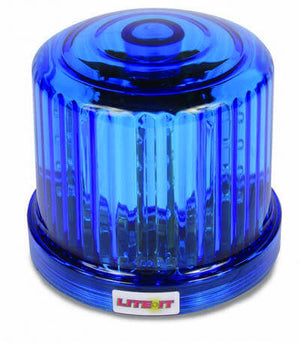 LED Rotating Battery Operated Beacon Magnetic - BLUE