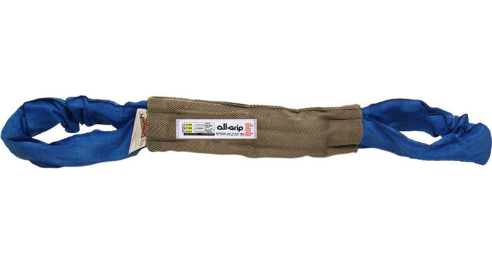 Blue Polyester Eye Eye Round Slings All-Grip 21,200 lbs WLL