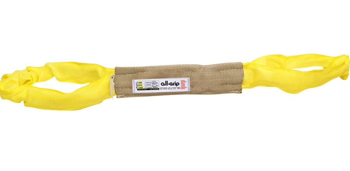 Yellow Polyester Eye Eye Round Slings All-Grip 8,400 lbs WLL