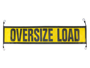 "14"" x 60″ Ez Hook Escort Oversize Mesh Load Sign - Made in USA"