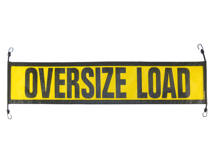 "14"" x 60″ Ez Hook Escort Oversize Mesh Load Sign"